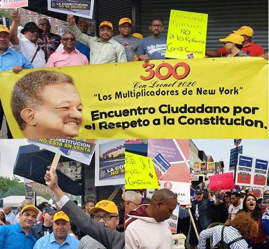 Se movilizan en NY contra intento modificar Constitución RD
