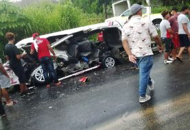 Al menos 5 muertos choque carretera Maimón-Cotuí