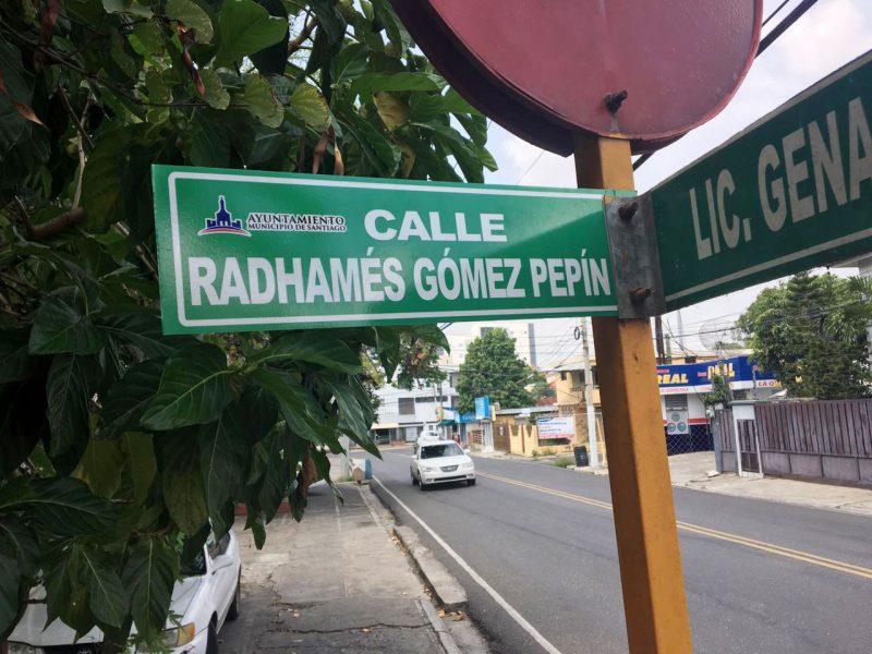 Designan Radhamés Gómez Pepín calle en Villa Olga