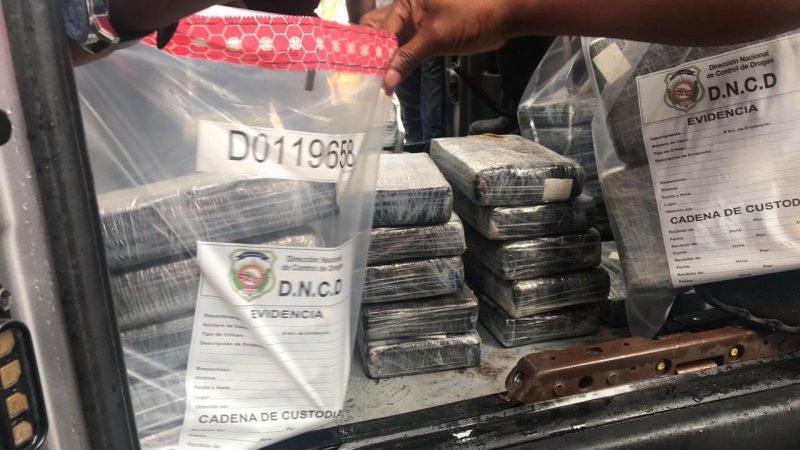 DNCD ocupa 91 kilos de cocaína provincia Duarte