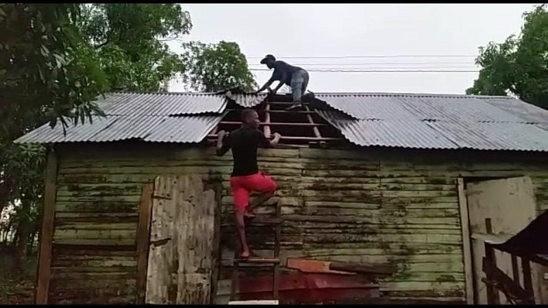 Ventarrón afectó varias comunidades de Dajabón