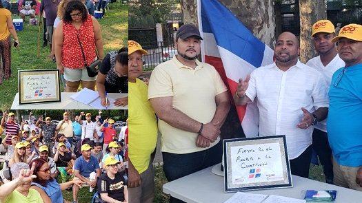 """Dominicanos en NY se inscribieron en el libro """"Respeto a la Constitución"""""""