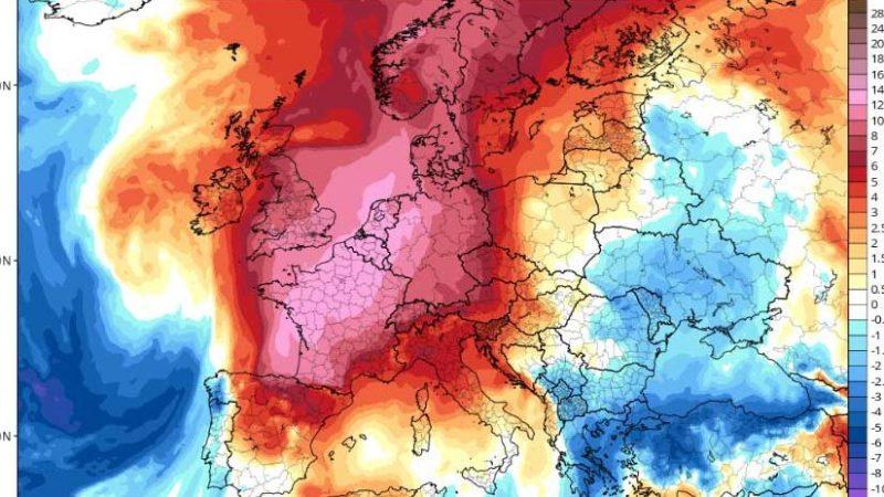 Asfixiante calor sigue castigando Europa Occidental