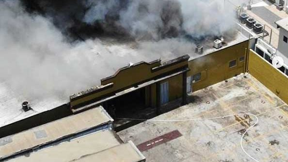 Sofocan incendio afectó área Inspectoría JCE