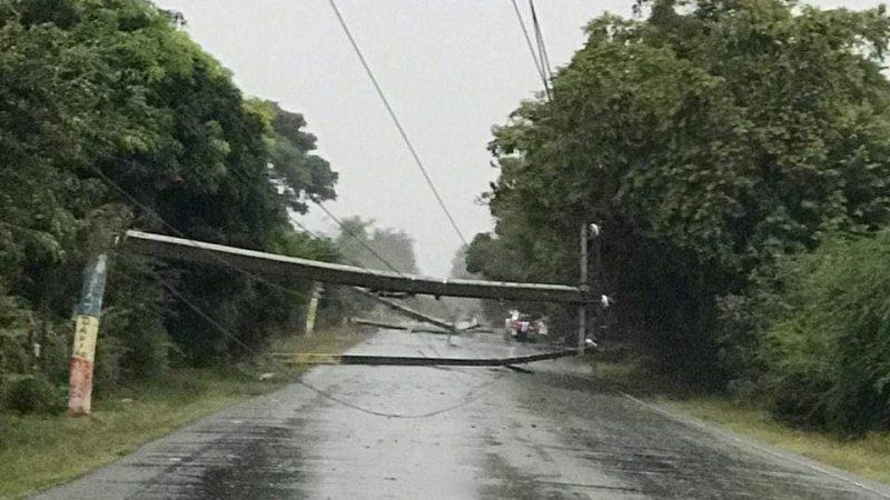 Ventarrones afectaron comunidades de Puerto Plata y Dajabón