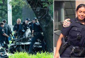 Policía de origen dominicano y acompañante mueren quemados en accidente