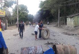En Baitoa protestan por agua y energía eléctrica