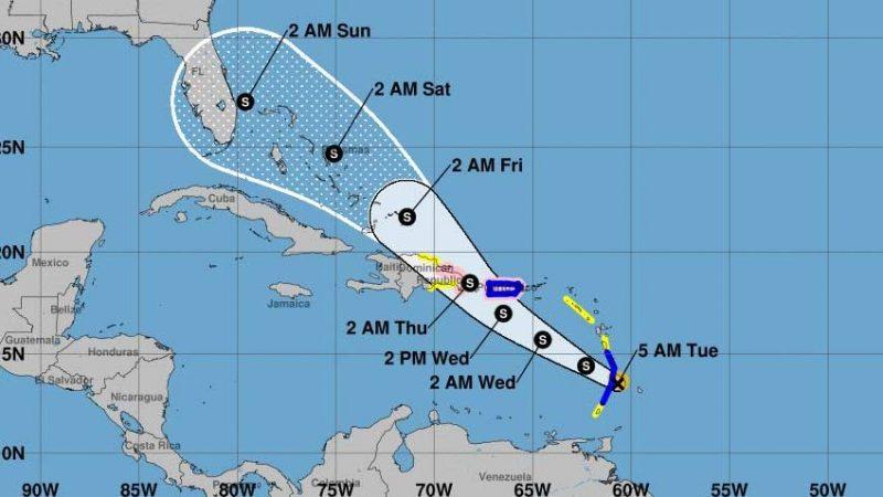 Onamet emite alertas por tormenta Dorian