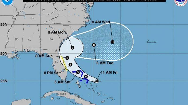 Alertan a Bahamas y Florida por tormenta