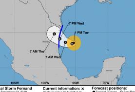 Se forma la tormenta tropical Fernand en el Golfo de México