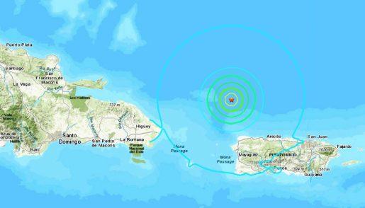 temblor puerto rico y rd