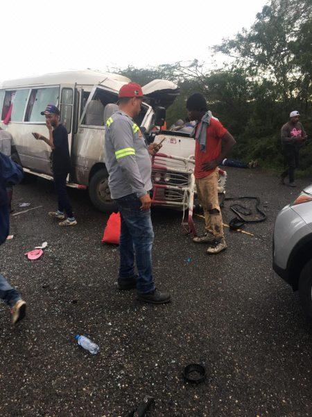 Identifican muertos y heridos accidente Montecristi