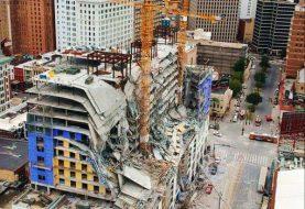 1 muerto, 19 heridos tras colapso Hard Rock Hotel Nueva Orleans
