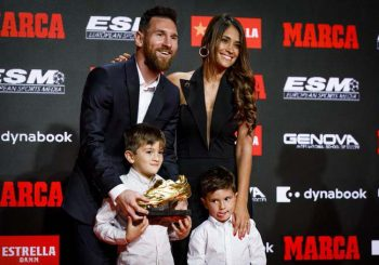 Messi recibe sexta bota de oro