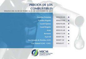 Combustibles suben, pero el fuel oil baja siete pesos