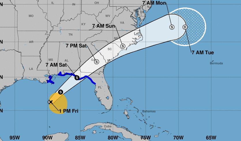 Tormenta tropical Nestor se forma en el Golfo de México