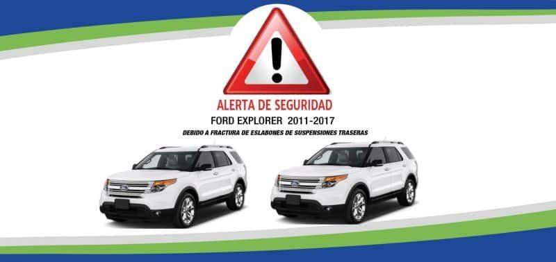 3,643 Ford Explorer importadas a RD, con problemas suspensiones traseras