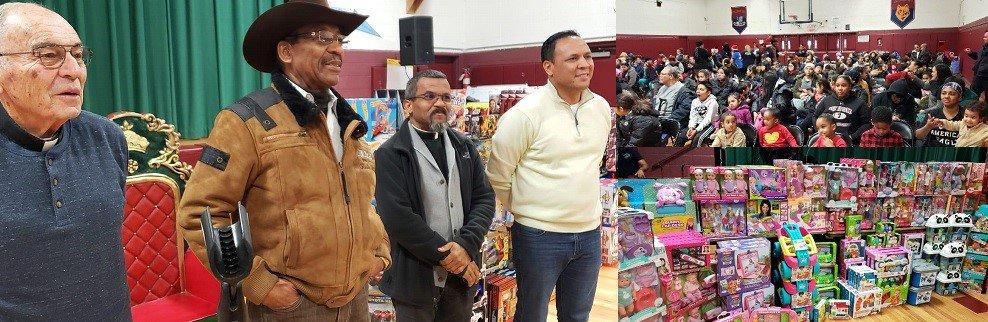 Entregan juguetes a niños en El Bronx