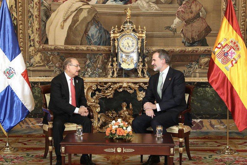 Rey Felipe VI recibe a Danilo Medina en el Palacio Real de Madrid