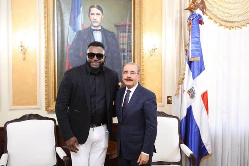 David Ortiz visita al presidente Danilo Medina