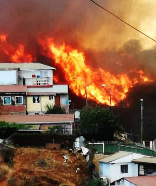 No descartan fuera provocado incendio Valparaiso