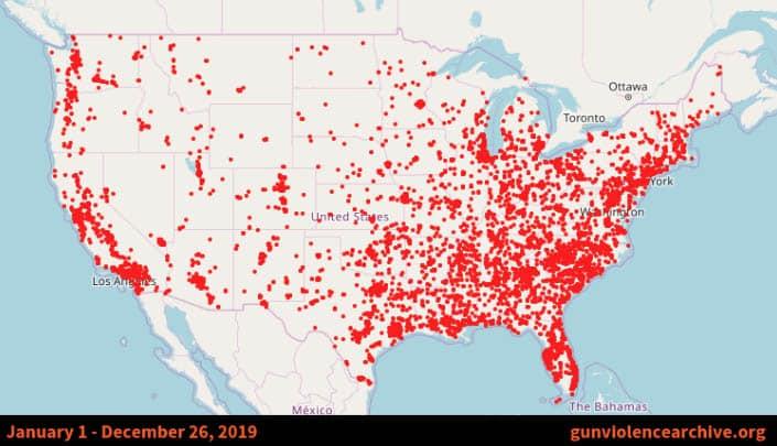 Más de 38 mil personas han muerto a tiros en EEUU