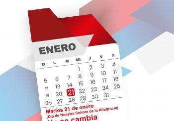 """Feriado Día de la Altagracia """"no se cambia"""""""