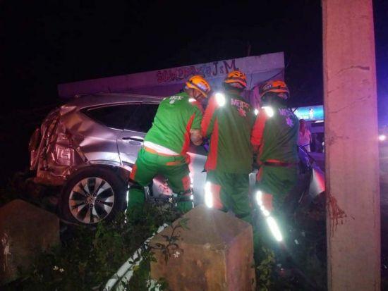 Dos muertos y 4 heridos accidente Burende, La Vega