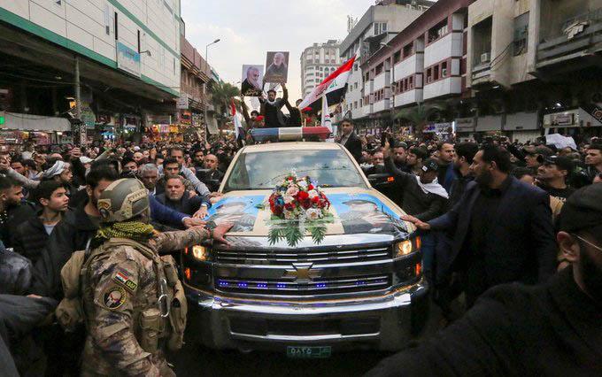 40 muertos durante estampida funeral general Soleiman