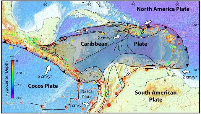 ¿Qué es la placa del Caribe?