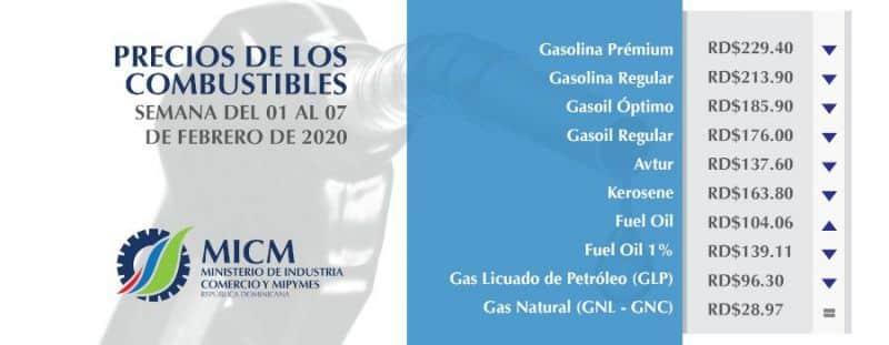 precios combustibles 31 enero