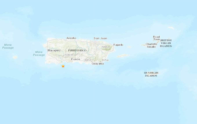 Sismo de magnitud 6,6 sacudió este martes a Puerto Rico