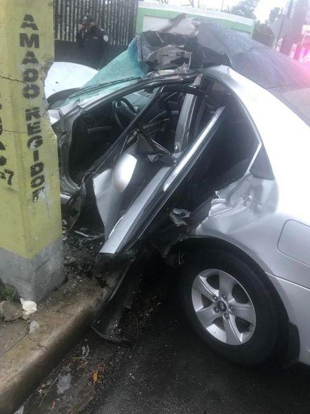 Dos muertos y un herido accidentes Santiago