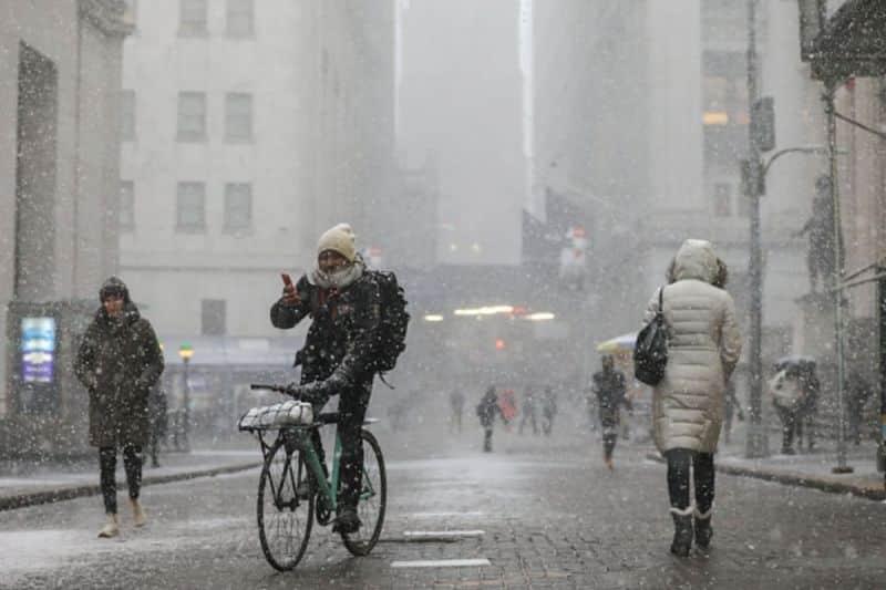 Frío, nieve, lluvia helada y fuertes vientos en NY este fin de semana