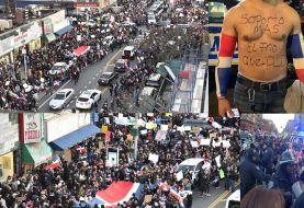 Dominicanos protestaron contra JCE en Alto Manhattan