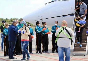 Gonzalo recibe 126 estudiantes se encontraban en Cuba