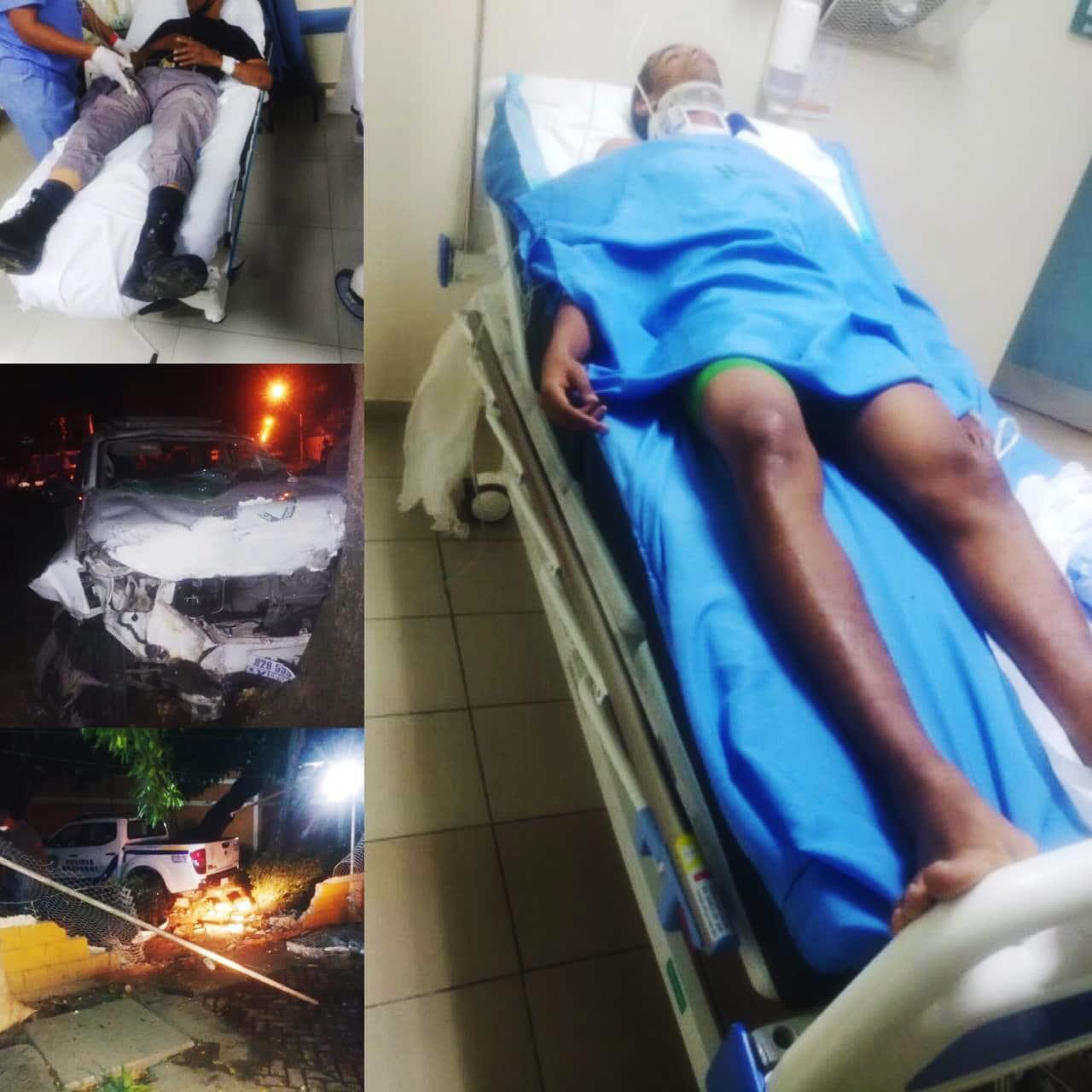 Policías y militares heridos en accidente