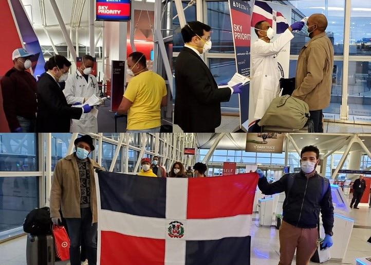 Trasladan 118 dominicanos  en vuelo ferry desde NY