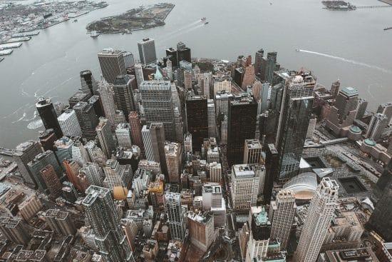 ciudad de nueva york desde el aire
