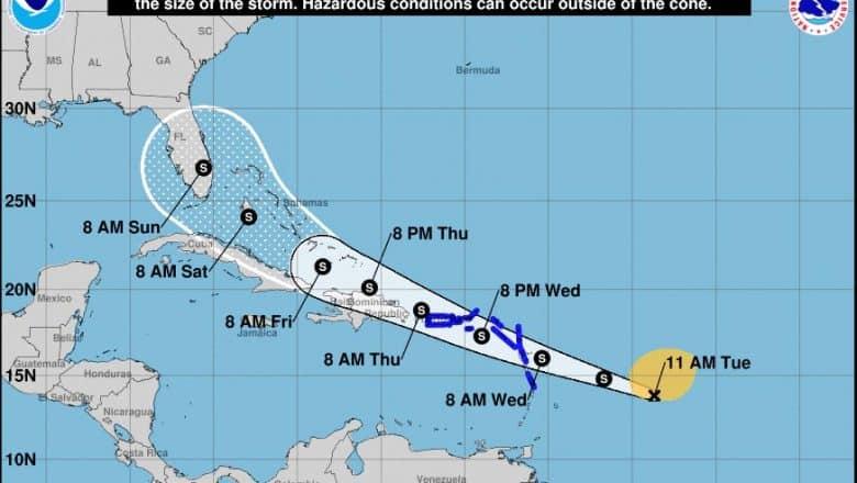 Se forma la depresión tropical 9 en el Atlántico