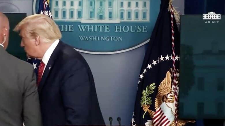 Trump escoltado de sala de prensa tras tiroteo fuera de la Casa Blanca