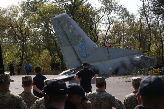 UCRANIA-KHARKIV-AVION MILITAR-ACCIDENTE
