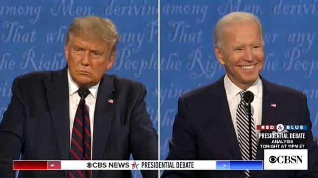 Trump y Biden debate