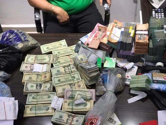 dinero y armas dncd