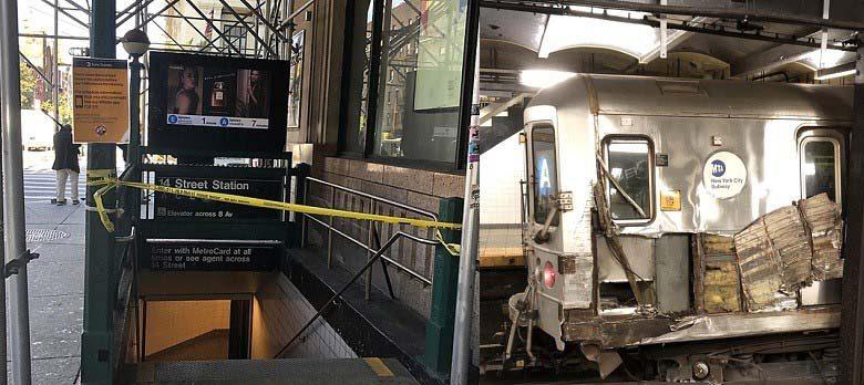 Tren A se dirigía Alto Manhattan se descarrila dejando tres heridos