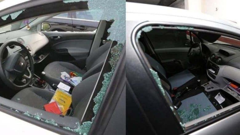 En Alto Manhattan destrozan vehículos para robar pertenencias