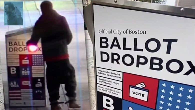 Urnas con votos por correo quemadas en calles de Boston