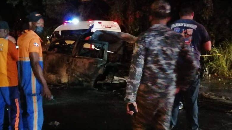 La Vega: Cuatro muertos y 2 heridos accidente