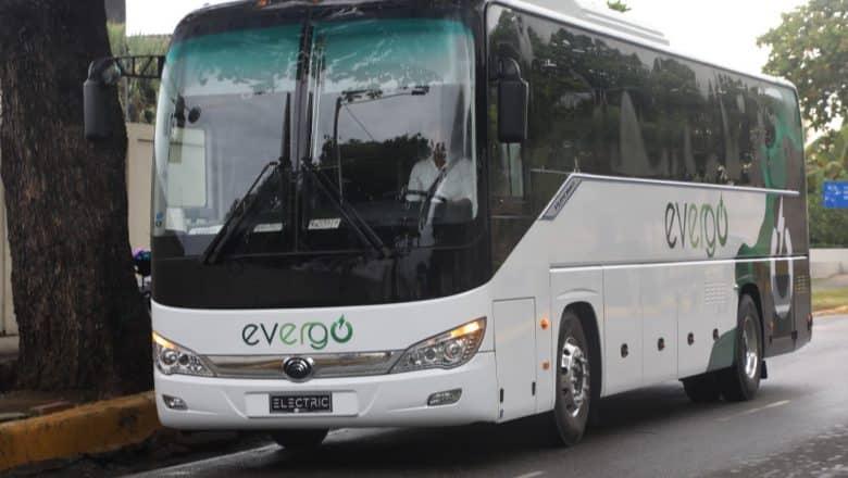Primer autobús eléctrico de la República Dominicana