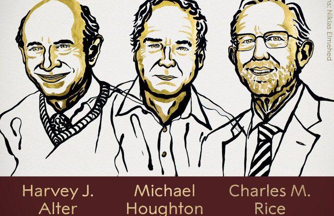 Tres científicos comparten Premio Nobel de Fisiología o Medicina 2020